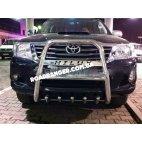 Кенгурятник для Toyota Hilux Tamsa Oto d70 с надписью и трубой