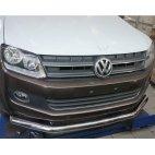 Передняя защита одинарная для VW Amarok Can Otomotiv Q76-60 (нержавеющая сталь)