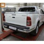 Задняя защита двойная (углы) для Toyota Hilux Can Otomotiv d76-42  (нержавеющая сталь)
