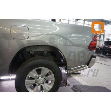 Задняя защита одинарная (углы) для Toyota Hilux d76 - 42 Can Otomotiv (нержавеющая сталь)