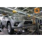 Передняя защита двойная для Toyota Hilux  Can Otomotiv (нержавеющая сталь)