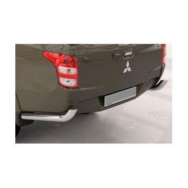 Задняя защита (углы)  для Mitsubishi L200 Can Otomotiv d76-42  (нержавеющая сталь)