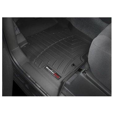 Коврики резиновые для Nissan Navara WeatherTech с бортиком черные передние