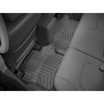 Коврики резиновые для Nissan Navara WeatherTech с бортиком черные задние