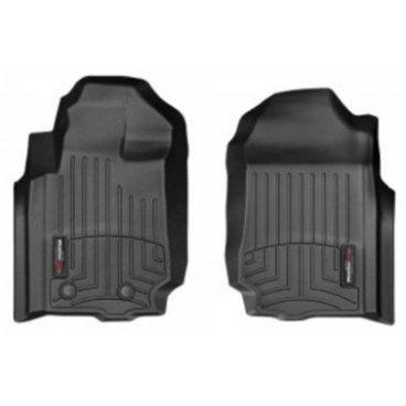 Коврики резиновые для Ford Ranger WeatherTech с бортиком черные передние