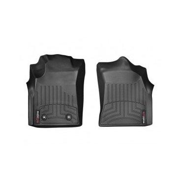 Коврики резиновые для Toyota Hilux WeatherTech с бортиком черные передние