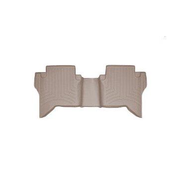 Коврики резиновые для Toyota Hilux WeatherTech с бортиком бежевые задние