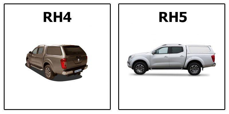 кунг RH4 и RH5 Standart на Renault Alaskan