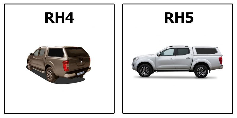 кунг RH4 и RH5 Profi на Renault Alaskan